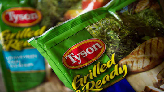 "Tyson Foods Ranking: 8Sales: $32.24 billion (year ending Sept. 2011)Acquisition: Nature's Farm OrganicWith sales of organic chicken far outpacing that of other meats, it is no surprise Tyson bought Nature's Farm Organic in 2004. In 2007, the company began its ""100% All Natural™, Raised Without Antibiotics� chicken initiative."