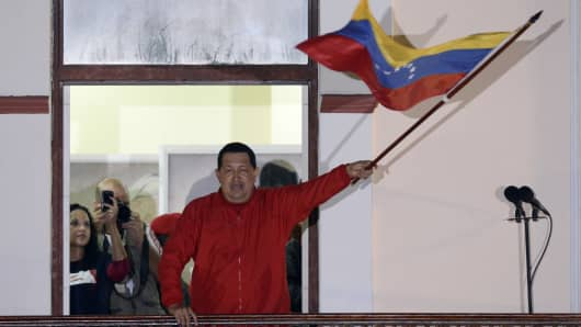 Hugo Chavez wins election.