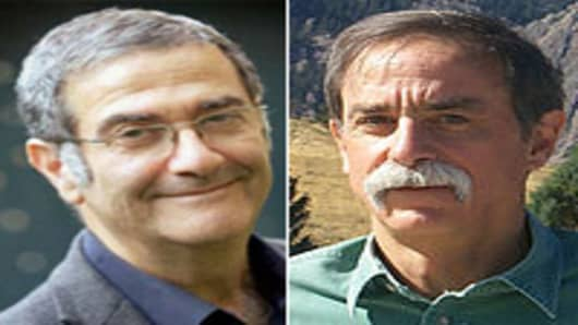 Noble Prize winners Serge Haroche of France and David Wineland of U.S.