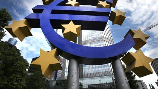 European Central Bank (ECB) headquarters in Frankfurt, Germany.