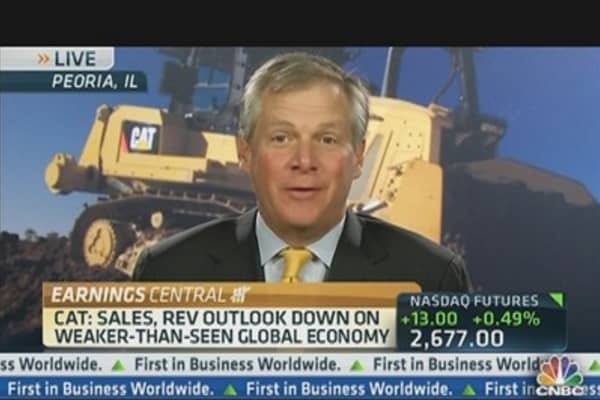 CAT CEO: Revenue Outlook Weaker