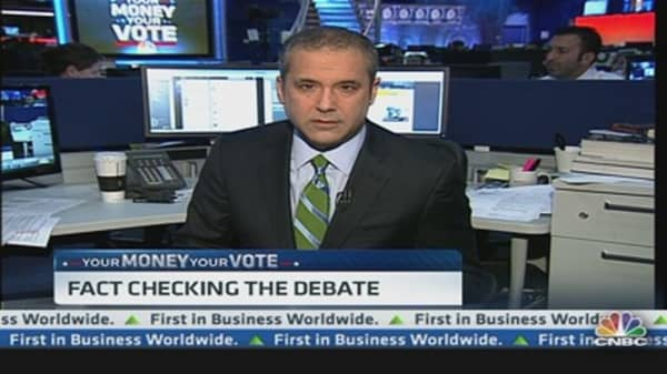 Fact Checking Tonight's Presidential Debate