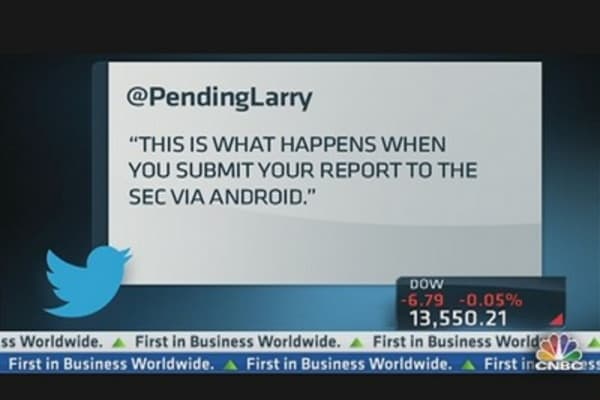 Parody Tweets of Google's Premature Earnings