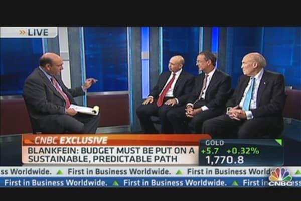 Goldman's Blankfein: 'Fiscal Cliff' Could Derail Economic Recovery