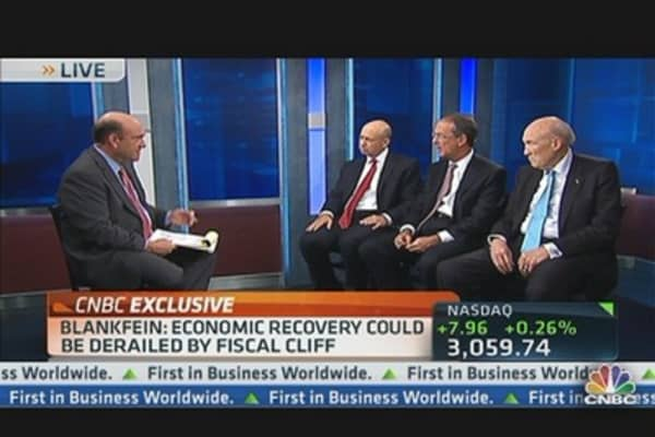 Blankfein: Candidates Trying to Avoid Fiscal Cliff Solutions
