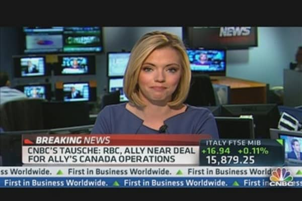 RBC, Ally Near $4 Billion Deal