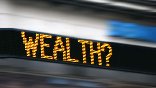 Wealth on ticker board