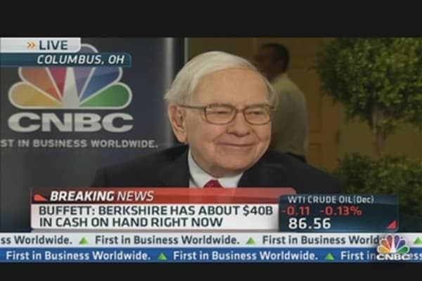 Buffett 'Salivating' for New Acquisitions