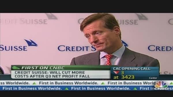 Credit Suisse Profit Falls Below Expectations