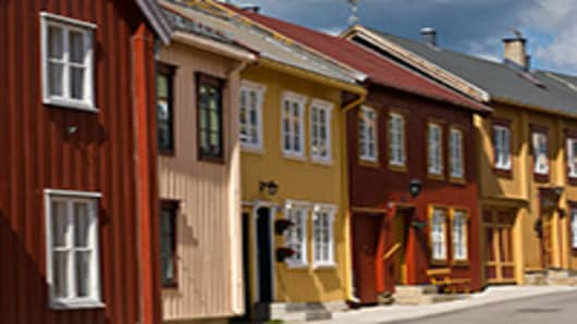 Buildings in Røros, Norway
