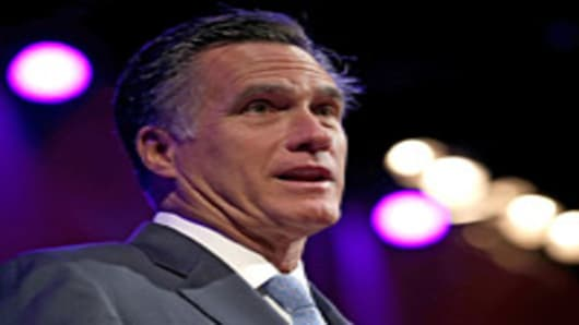 Republican presidential candidate, former Massachusetts Gov. Mitt Romney speaks during the American Legion 94th National Convention on August 29, 2012 in Indianapolis, Indiana. Romney is scheduled to accept his party's nomination on August 30.