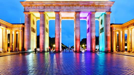 Bradenburg Gate in Germany.