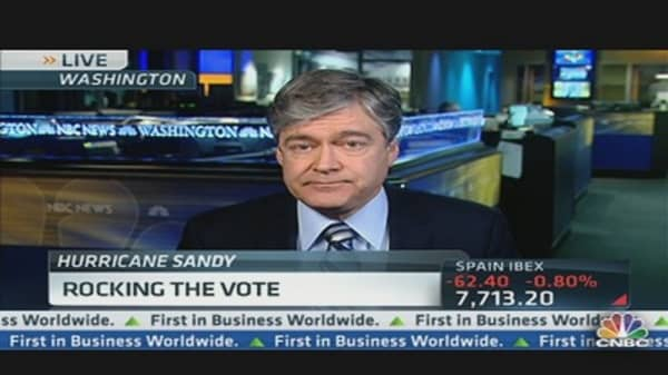 Hurricane Sandy Rocks the Vote