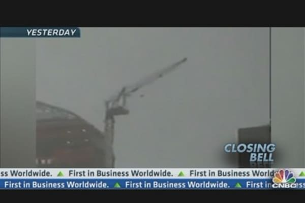 Crane Dangles From Midtown Highrise