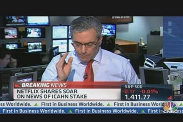 Netflix Shares Soar on Icahn Stake