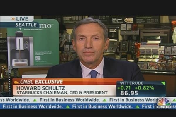 Starbucks CEO on Earnings, Elections & Sandy