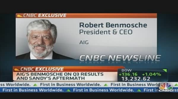 AIG's Benmosche on Q3 Results