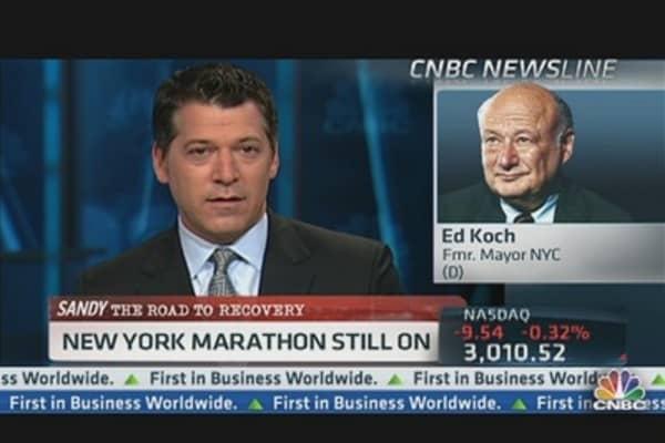 Ed Koch: NYC Marathon Must Go On