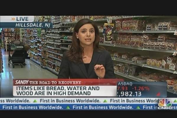 Sandy Disrupts Food Distribution