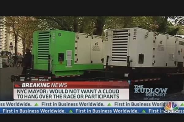 Kudlow: Bloomberg Caves In - Cancels Marathon