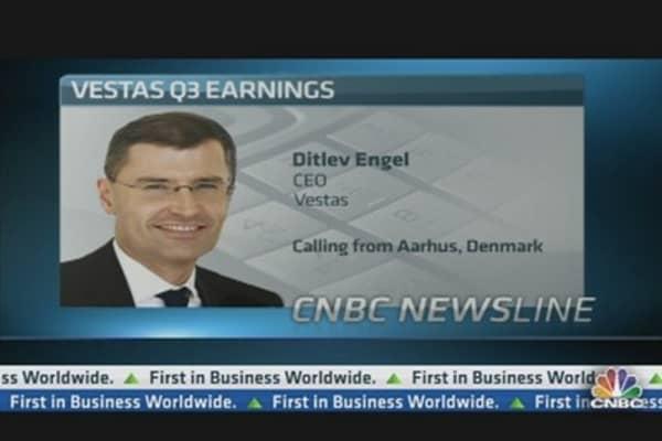 Vestas Third Quarter Profits Slump