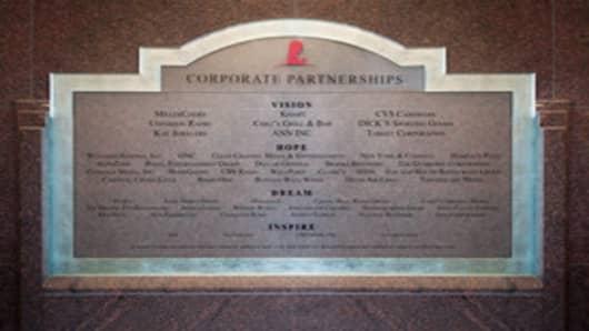 St. Jude Corporate Partnerships Wall