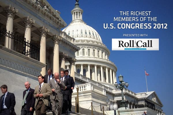 The 15 Richest Members of Congress 2012