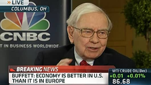 CNBC Transcript: Warren Buffett on 'Slowing' Global Economy and 'Salivating' For Deals