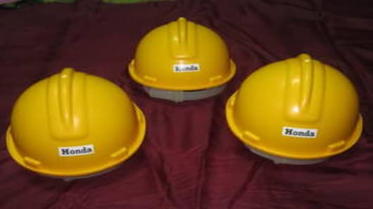 Safety helmets made of Cereplast Biopropylene