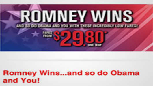 Spirit Airlines 'Romney Wins' Email Sparks Anger on Twitter