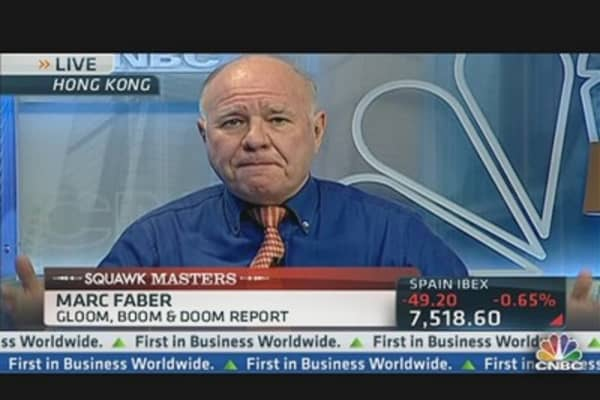 Market Will Drop 20% Next Year: Faber