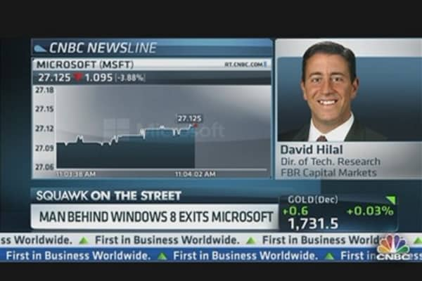 Man Behind Windows 8 Exits Microsoft