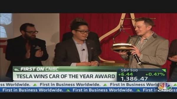 Tesla's 'Model S'  Wins Car of the Year Award