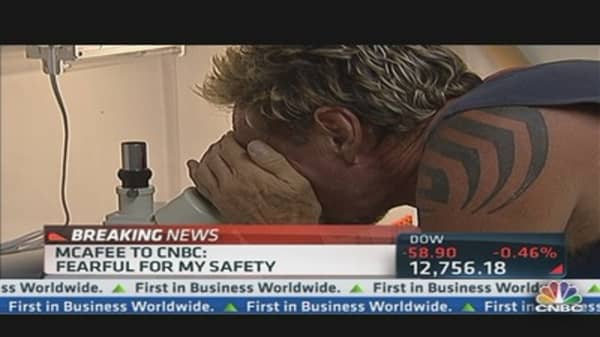McAfee to CNBC: Fearful of My Safety