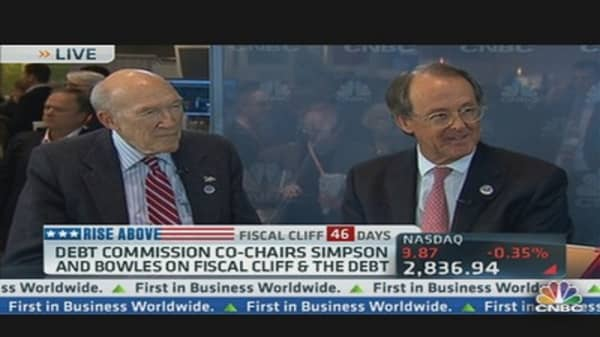 Simpson & Bowles on Fiscal Cliff, US Debt