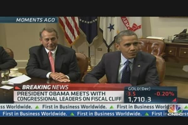 Obama  Meets With Congressional Leaders