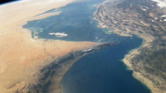 Strait of Hormuz in the Persian Gulf.