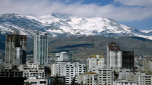 Skyline of Tehran, Iran