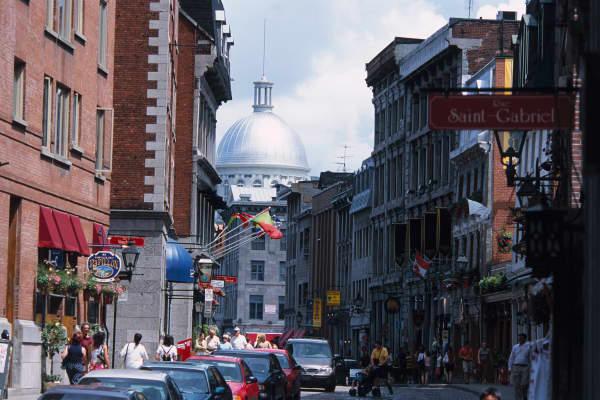 Rue Saint-Paul in Montreal, Quebec