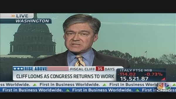 Cliff Looms as Congress Returns to Work