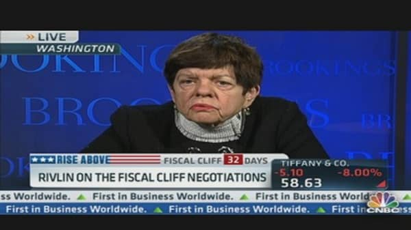 Rivlin on 'Fiscal Cliff' Negotiations