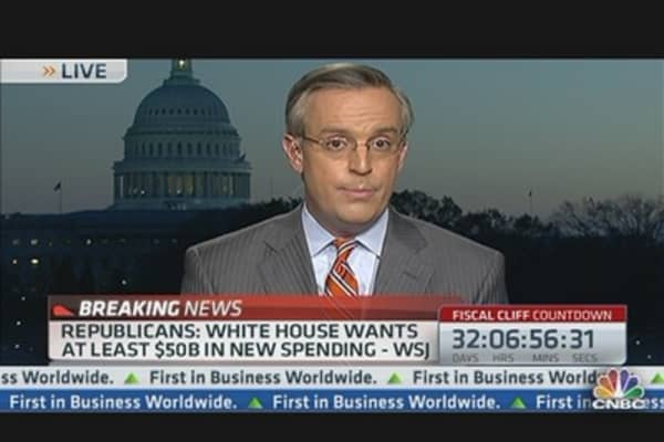 WSJ Via Republican Aides: White House Wants At Least $50 Billion in New Spending