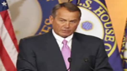 Boehner on 'Cliff' Talks: 'We're Almost Nowhere'