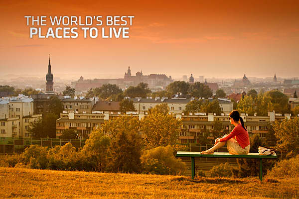 The world 39 s best places to live 2012 for The best places to live in the world