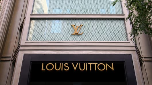 Louis Vuitton store.