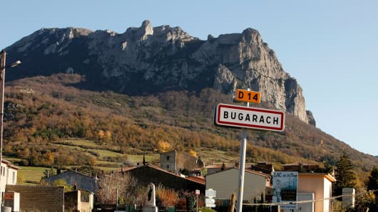 The village of Bugarach, which some are claiming will be the only surviving settlement following a devastating apocalypse in December 2012.