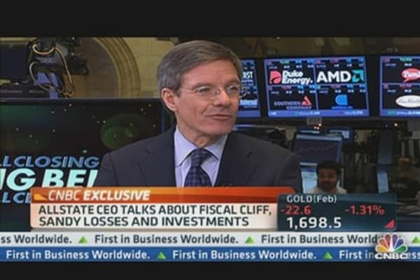 Allstate CEO: Facing $1.1 Billion From Sandy
