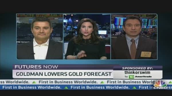 Futures Now: Goldman Lowers Gold Forecast