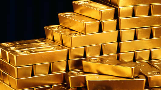 Gold & gold shoes for sale