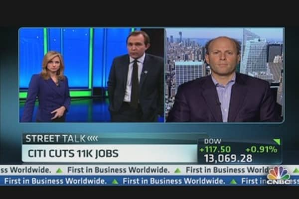 Schorr on Citi Job Cuts